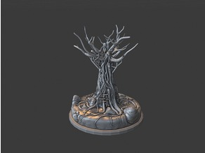 Very Detailed Old Dead Tree diy model with support
