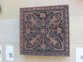 Louis H. Sullivan American, Felsenthal, Eli B., Store: Decorative Panel with Central Circular Foliate Design