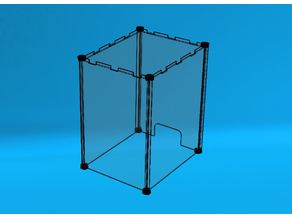 PERSPEX ENCLOSURE (SLOTTED) WITH PLASTIC CORNERS FOR CREALITY PRINTER