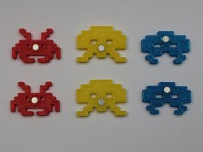 Space Invaders Magnets Small