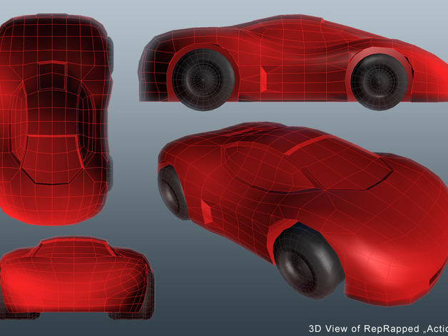 Action Car 3D View