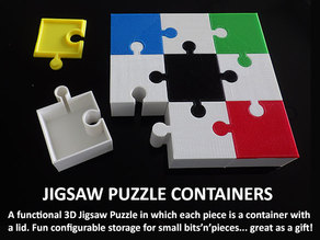 Jigsaw Puzzle Containers