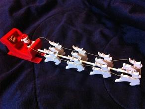 Santa Sleigh with 8 Reindeer for Lego minifigures