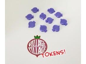 Village Pillage: Upgrade Turnip Tokens (Boardgame)