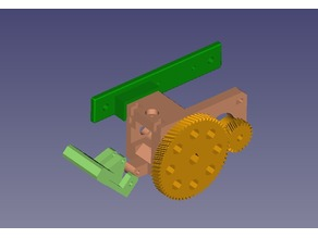 Geared Bowden Extruder for MK7