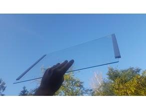 Bracket for 3mm fridge glass shelf // Refridgerator; Refrigerator; Clamp; Holder; Clip