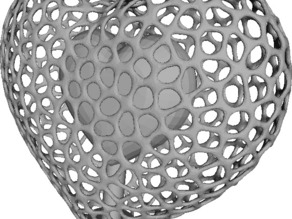 Voronoi Chambered Heart (with small, medium, and large versions!)