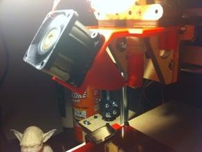 Clip-on Printrbot 40-mm Fan Mount, Version 2