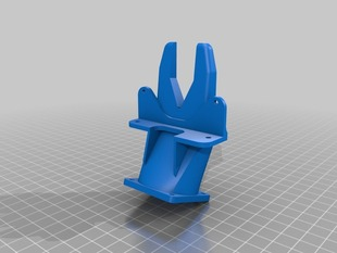 Vison 3D Printer Filament Cooling Fan Duct Revised