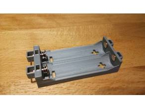spring-loaded battery holder for 18650 batteries