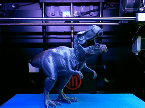 Tyrannosaurus Rex Figurine with Support