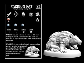 Carrion Rat (18mm scale)
