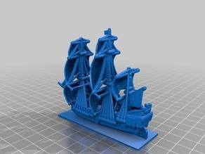 Sailing Ship in 3x1 base