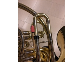 French horn pencil clip holder