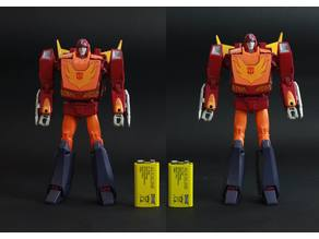 Transformers MP-28 Masterpiece Hot Rodimus knee replacement