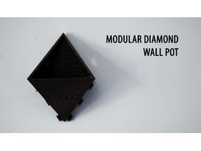 Modular Diamond Wall Pot