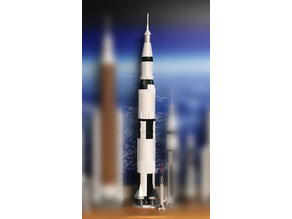 NASA Saturn V Apollo, 1/200 scale.