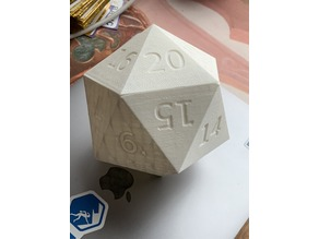 Magnetic D20 Dice Box (Customizable)