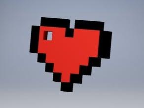 8BITS Zelda heart keychain