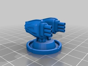 Star Wars Commander 28mm Rocket turret HD( smuggler)