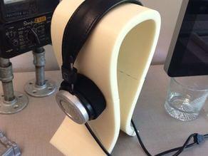 Omega-style headphone stand