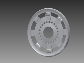 Ironman arc reactor top plate