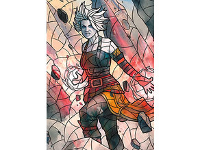 Nahiri, Storm of Stone - stained glass - litho