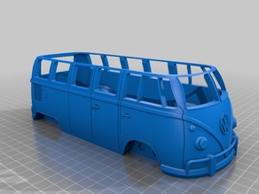 VW BUS Repaired Body with Hole