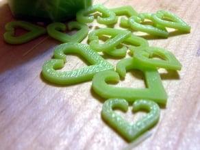 Heart of spades giftwrap clip