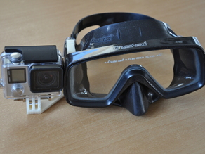Easy install Gopro Scuba Mask mount open view