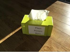 Kleenex Box with Photo Holder