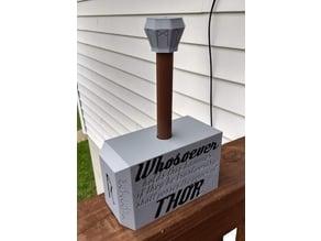 Mjolnir, Thors hammer, Toilet Paper holder
