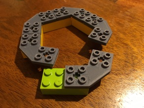 LEGO Compatible Pentagonal Connector