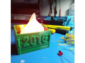 2016 Dumpster Fire Ornament - Hackerspace Edition