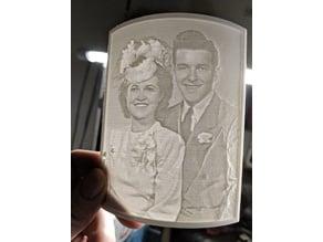 Lithophane of Mom and Dad