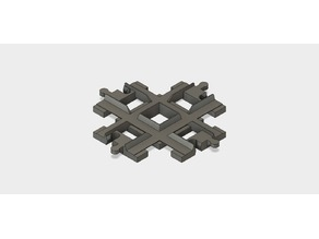 8 Stud Cross Duplo Track Flat Floor