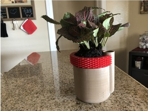Knurled Pot for Self-Watering Planter by parallelgoods