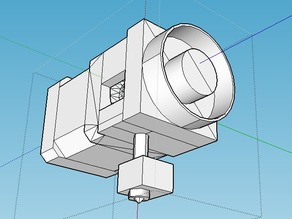 Model of MK8 direct drive extruder with Nema 17hs8401