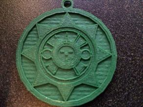 Aztec Sunstone pendant