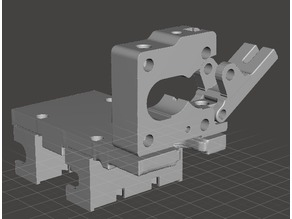 Solidoodle 2 X-Carriage Hybrid w/ Extruder