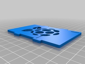 Raspberry logo - Improved customizable Top cover case for the Raspberry Pi