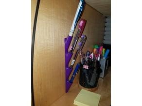 Wall pen holder