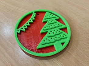 Christmas Tree Shaped Decoration / Ornament - Merry Christmas!