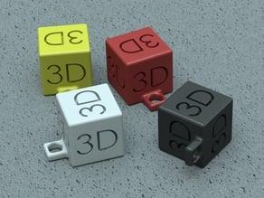 3D Cube Keychain
