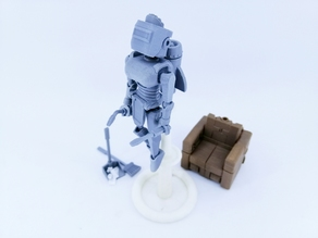 ARTICULATED HOUSEKEEPER ROBOT 3.75 INCH - NO SUPPORT