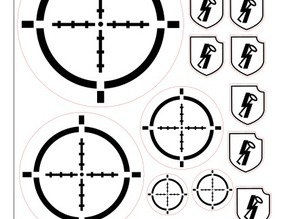 bolt action templates laser cut SS hitlerjugend pinned tokens