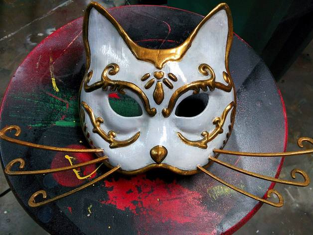 splicer cat mask bioshock by annatar2 thingiverse
