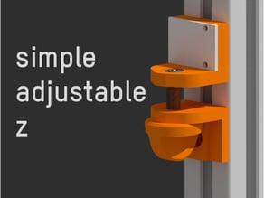 Simple adjustable Z