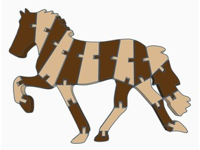 Flexi Horse (Dual Extrusion)