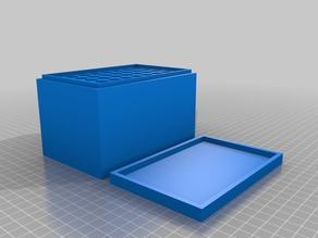 My Customized Parametric Stackable Ammo Box with Lid